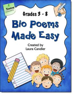 Bio Poems Made Easy..from Laura Candler! Great freebies here on poetry!