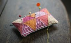 Pincushion--be sure to check out all the related pins that come up under this one! LOTS of little pincushion ideas.