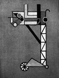 Lazlo Moholy-Nagy, Construction, 1920