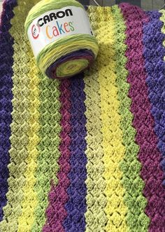 Free Crochet Patterns Featuring Caron Cakes Yarn Rainbow Sprinkles ...