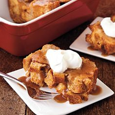 Bread Pudding with Salted Caramel Sauce | MyRecipes.com