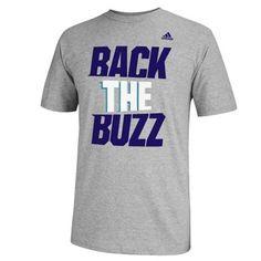 adidas Charlotte Hornets Back The Buzz T-Shirt - Ash