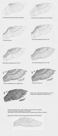 Como Desenhar Mangá: Asas/wings