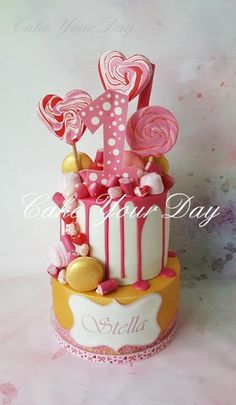 Gold & Pink Candy Cake - Cake by Cake Your Day (Susana van Welbergen)