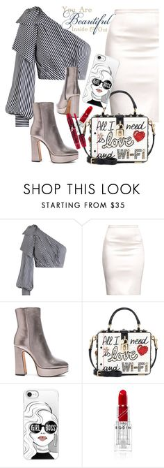 """""""Maples Bow Top"""" by selmir ❤ liked on Polyvore featuring Zimmermann, Alexandre Birman, Dolce&Gabbana, Casetify, WALL and Physicians Formula"""