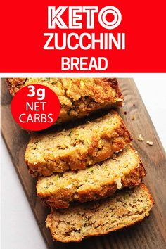 This low carb and keto zucchini bread is made with almond flour and is perfectly moist. Walnuts, blueberries or chocolate chips can be added for extra flavor and crunch. I also give instructions for freezing and making muffins. Best Low Carb Recipes, Low Carb Dinner Recipes, Keto Recipes, Breakfast Recipes, Healthy Recipes, Diet Breakfast, Breakfast Ideas, Healthy Foods, Dessert Recipes