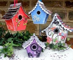 birdhouses | these darling winter birdhouses created with glitz by our very own ...