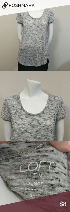 Loft lounge tee Rayon and polyester. Super soft! Worn a few times. Work retail and buy new stuff every month! LOFT Tops Tees - Short Sleeve