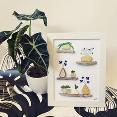 """Michaela on Instagram: """"Plant Sea Glass Art - I am excited to announce I will be a stall holder @smalesfarmmarket on Match 14th! 🥳 Hope to see all of you in a few…"""" Natural Crafts, Sea Glass Art, Planter Pots, Plants, Instagram, Plant, Nature Crafts, Planets"""