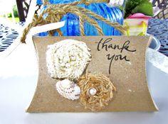 Burlap Gift Boxes Wedding Favors BridesMaid gift Boxes. $3.50, via Etsy.
