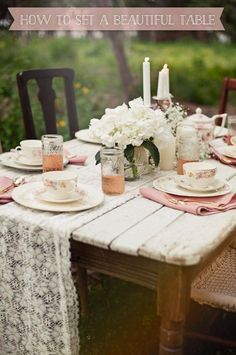 How to Set a Beautiful Table | Rosy Glasses