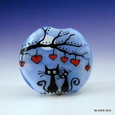 """Thank You for Being A Friend "" Bykayo A Handmade Lampwork Glass Focal Bead SRA 