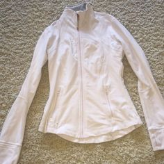 Lululemon Define Jacket Very light pink almost white. Great condition. Rose gold zipper as seen in photo. This is still available. lululemon athletica Tops