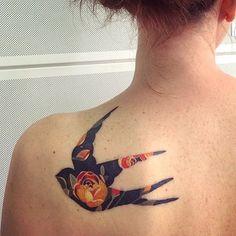 Floral Bird Tattoo | Venice Tattoo Art Designs