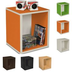 Stackable Cubes on sale now!  Comes in 6 colors and can be stacked in plenty of ways to fit your storage needs!