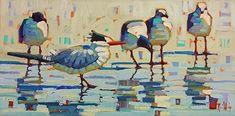 Beach Associates-Rene' Wiley-12x24 inches-Oil on Canvas by René Wiley Gallery ~ x