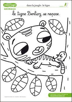 Coloriage animaux de la ferme à télécharger pdf - le tigre
