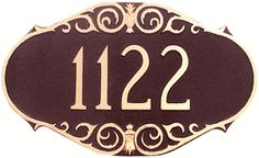 The Victorian Address Plaque
