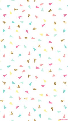 Pink mint turquoise gold mini triangle confetti iphone phone wallpaper background lockscreen