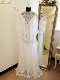 Boho wedding dress Lace wedding dress Vintage wedding dress