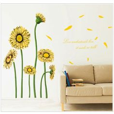 Sunflower Style Removable Wall Stickers #jewelry, #women, #men, #hats, #watches, #belts, #fashion