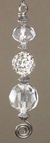 Silver Rhinestone Crystal Ceiling Fan Pull Chain