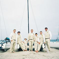 beachy groom and groomsman attire, photo by katbraman.com