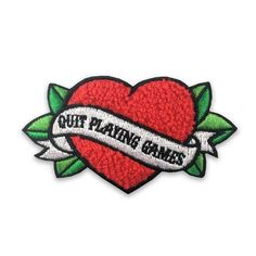 """Quit Playing Games"" Chenille Patch by Ludlow Luna"