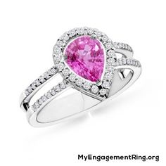 pink diamond engagement ring - My Engagement Ring