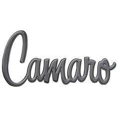 Camaro Tin Die Cut Sign