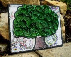 toilet paper roll tree - arbre arts plastiques