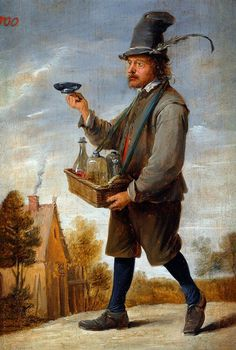 Liquor seller by David Teniers (II), ca. 1640.