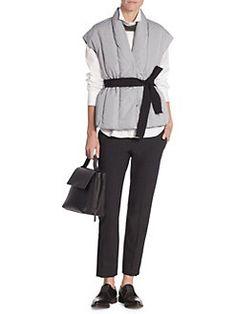 Brunello Cucinelli - Cap Sleeve Belted Vest