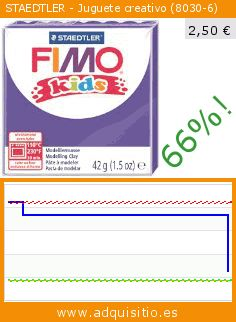 STAEDTLER - Juguete creativo (8030-6) (Juguete). Baja 66%! Precio actual 2,50 €, el precio anterior fue de 7,36 €. https://www.adquisitio.es/staedtler/juguete-creativo-8030-6