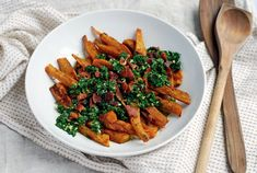 Roasted Sweet Potato Wedges with Chimichurri and Bacon | 31 Delicious Things To Cook In January