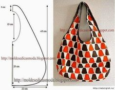 Sewing Projects Easy Simple Tote Bags New Ideas Bag Patterns To Sew, Sewing Patterns, Loom Patterns, Fabric Patterns, Wooden Handle Bag, Handbag Tutorial, Hippie Bags, Patchwork Bags, Fabric Bags