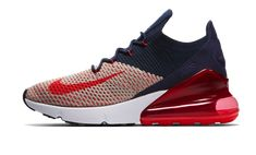 wholesale dealer 38148 f8c7b Nike Air Max 270 Flyknit Women s Shoe in Moon Particle College  Navy Blackened Blue