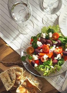 "visitgreece-gr:  "" Delicious Greek Salad  The infamous Greek salad can be found in restaurants worldwide, but in our opinion it is best served on a warm summer's day while taking in the sights and sounds of Greece.  Lovingly made and beautifully shot by..."
