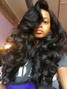 50 Best Eye-Catching Long Hairstyles for Black Women | Pinterest ...