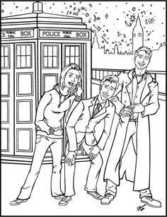 Three Doctor Familiar Coloring Pages