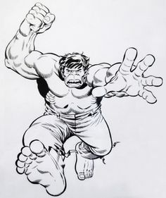 Hulk Smash Black And White Classic herb trimpe that was