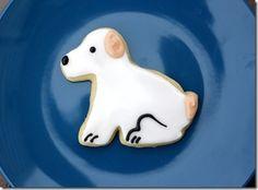 Puppy sugar cookies