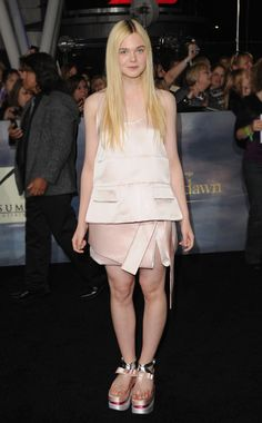 Elle Fanning in Prada spring 2013.  This Japanesque look can't be pulled off by everyone, but it's cute on her.