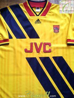 Relive Arsenal's 1993/1994 season with this vintage Adidas away football shirt.