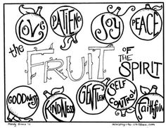 Fruits Of The Spirit Coloring Page Sunday School Bible And Churches Fruit Of The Spirit Coloring Page