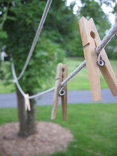 Either hang your clothes outside or pour fabric softender on a washcloth instead of buying dryer sheets.