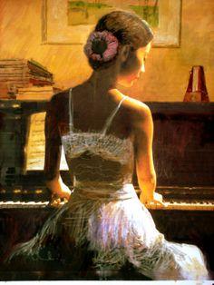 Girl at Piano...Lillian