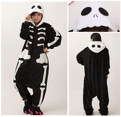 ab48f8e3e0 Cheap Ir al baño Versión Esqueleto Unisex Adult franela con capucha pijamas  de Cosplay de la