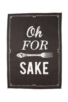 tea towel throw in the towel FORK SAKE