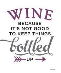Second Hand Wine Fridge Code: 4866012879 bottle crafts cricut Silhouette Design Store: Wine Becauase It's Not Good Keep Bottled Up Phrase Silhouette Design, Silhouette Cameo Projects, London Silhouette, Wine Craft, Wine Bottle Crafts, Bottle Art, Wine Bottles, Diy Bottle, Glass Bottle